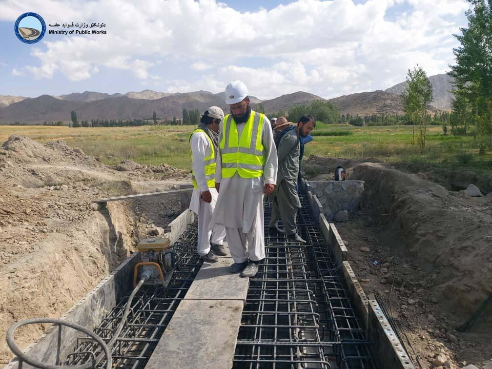 ساختمان سرک قره باغ - جاغوری ولایت غزنی ۴۲ فیصد پیشرفت کاری دارد