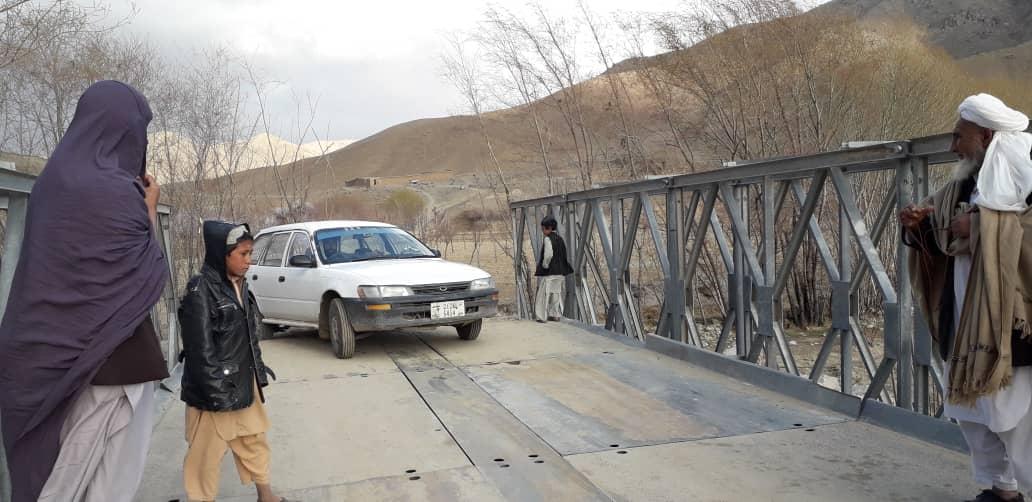 در ولایت زابل برای حدوداً بیست هزار فامیل یک پایه پل استحکامي ساخته شد