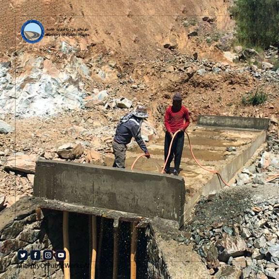 دایکندی: کار اعمار و ساختمان سرک رباط - میرامور ۵۷ فیصد پیشرفت کاری دارد